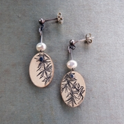 Vines and Pearls Earrings Front