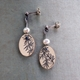 Vines and Pearls Short Drop Earrings