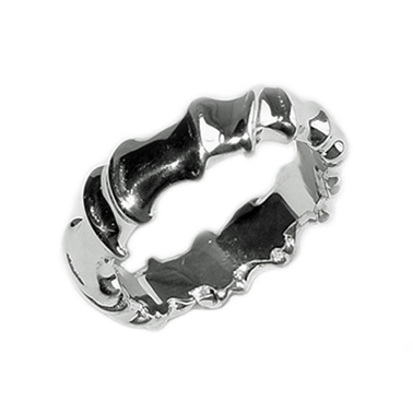 silver twist vine band