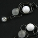 White Frost CZ Triple Bubble Earrings Oxidised 3