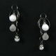 White Frost CZ Triple Bubble Earrings Oxidised