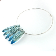 Blue Faceted Collar 5 Piece