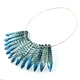 Blue Fern faceted Collar
