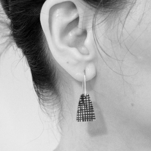 weave earrings worn
