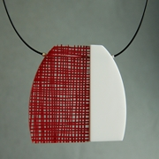red weave necklace 01