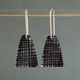 black weave short drop earrings