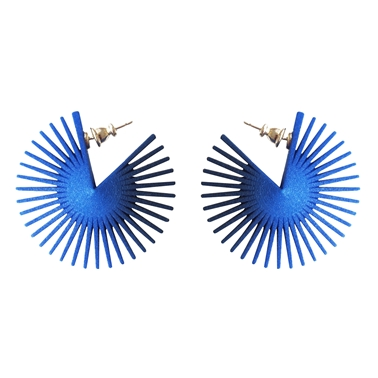 Wheel Earrings Blue