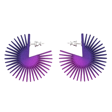 Wheel Earrings Purple