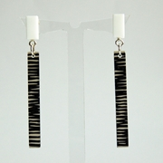 white metro earrings
