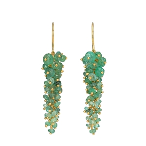 Emerald wisteria earrings