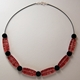 red wired necklace