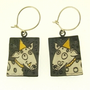 Woof woof dog earrings