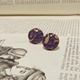 Worn Away Round Stud Earrings Medium