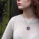 Worn Away Round Pendant Purple