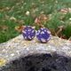 Worn Away Round Stud Earrings Large