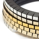 Wound Up Slim Bracelet - Black & Gold-Silver - detail