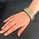 Wound Up Slim Bracelet - Black & Gold-Silver - modelled