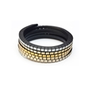 Wound Up Slim Bracelet - Black & Gold-Silver