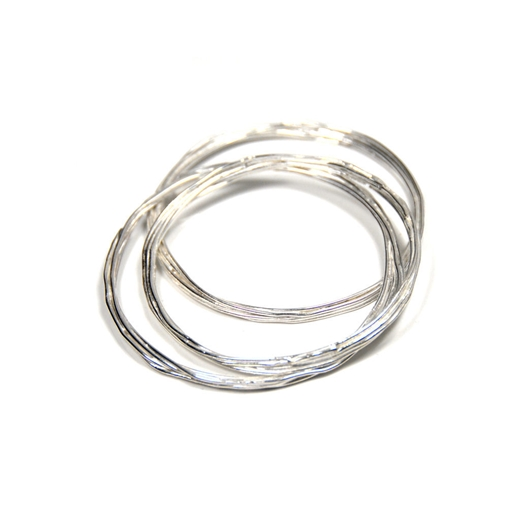 wrap bangle silver stack