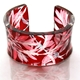 Burgundy Xray leaf wide cuff