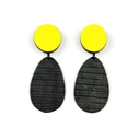 yellow circle & teardrop studs