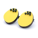 Yellow dot pin studs