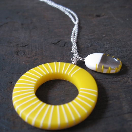 butter cup yellow pendant