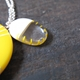 yellow pendant detail