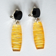 yellow clip wired earrings 1