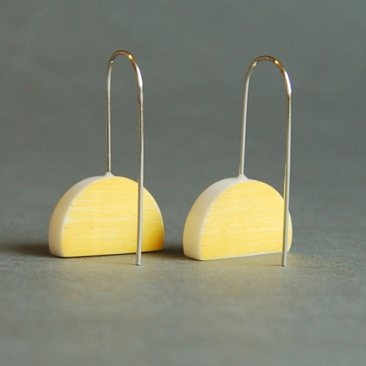 yellow eclipse earrings