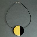 yellow eclipse necklace