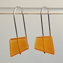 yellow fragments earrings