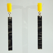 yellow metro earrings