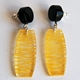 yellow wired earrings