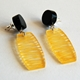 yellow wired earrings1
