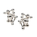 Molecule silver stud earrings