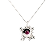 Molecule Embellish Ruby Cluster Necklace
