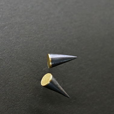Akari Small Oxidised / Gold Studs